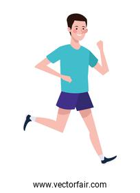 man running character healthy lifestyle
