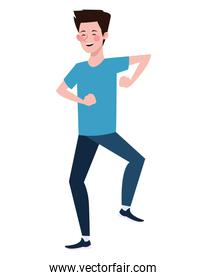 man dancing character healthy lifestyle