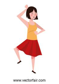 woman dancing character healthy lifestyle