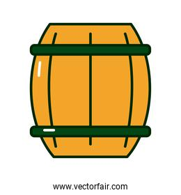 wooden beer barrel flat style icon