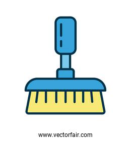 broom clean tool flat style icon