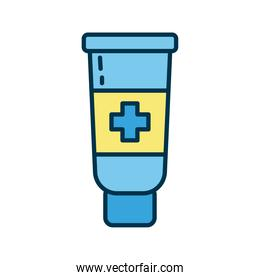 medical cream tube flat style icon