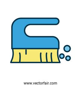 brush clean tool flat style icon