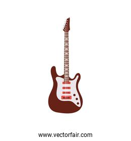 electric guitar color brown and white colors instrument icon