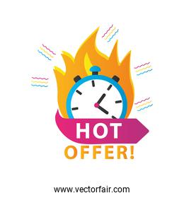 hot offer sale countdown lettering with chronometer onfire