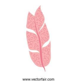 tropical leaf foliage botany abstract style icon