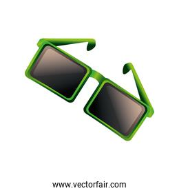 sunglasses with green frame fashion icon detailed style