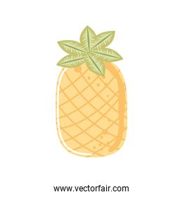 tropical pineapple fresh fruit icon isolated style
