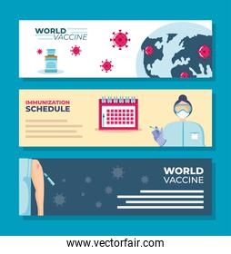 world vaccine immunization schedule campaign prevention