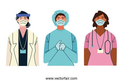 thank you female doctors and nurse working in the hospitals and fighting the coronavirus