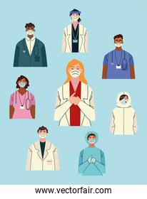 thank you, doctors and nurses working in the hospitals and fighting the coronavirus