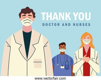 thank you, brave staff working in the hospitals and fighting the coronavirus outbreak