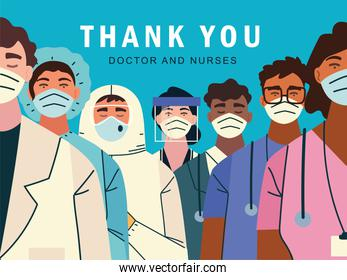 thank you, doctors and nurses for the fight against covid-19 coronavirus infection