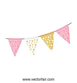 garlands hanging party celebration icon