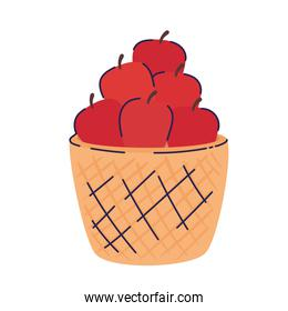 basket with fresh tomatoes icon