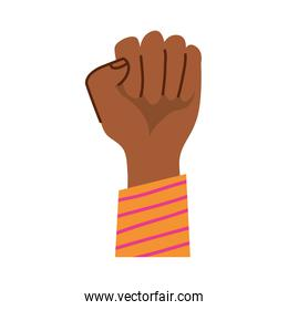 afro hand fist protesting icon