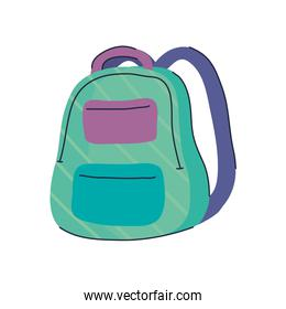 schoolbag school supply isolated icon