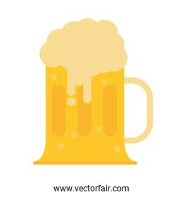 mug with cold beer icon flat style