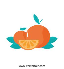 whole and slice orange fruit citrus healthy meal