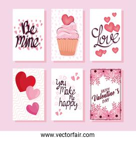 happy valentines day letterings cards