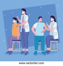 female doctors with covid19 vaccination