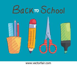 back to school lettering and set supplies