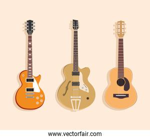 acoustic and electric guitars string musical instrument