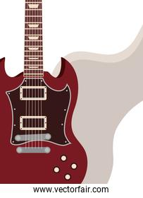 electric guitar vector icon on abstract background
