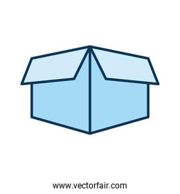 blue packing box on a white background