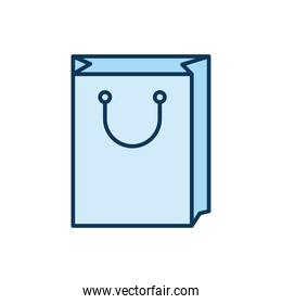 blue packing bag in a white background