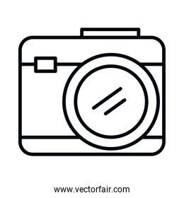 photographic camera icon, line style