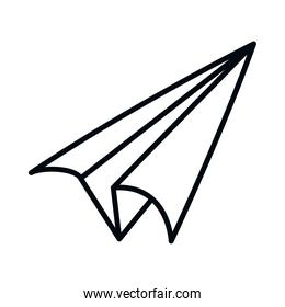 paper plane icon, line style