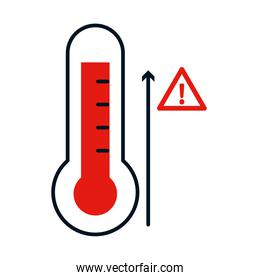 thermometer with high temperature, colorful design