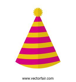party hat icon, colorful design