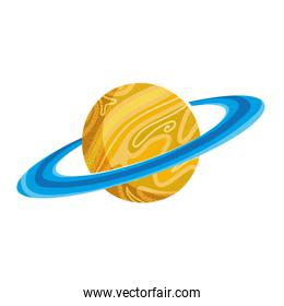 space saturn planet galaxy system solar icon vector