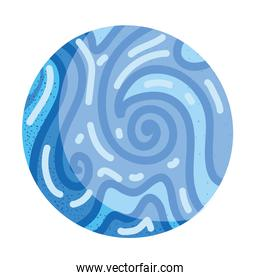 space planet galaxy system surface abstract solar icon vector