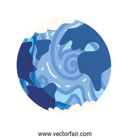 space planet abstract surface icon vector