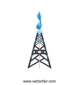 fracking tower gas and oil rig industry