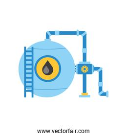 fracking oil industry machinery pump and pipes