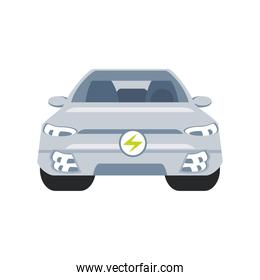 electric car vehicle future concept, front view