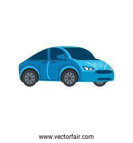 blue electric car vehicle efficient industry
