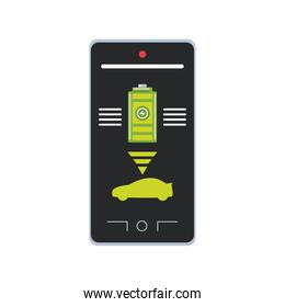 smartphone application electric car battery level