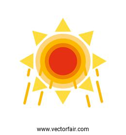 sun power climate and summer white background
