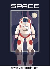 space astronaut character moon explore adventure