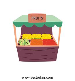 Fruits market isolated vector design