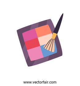 Make up and cosmetic brush and powder vector design