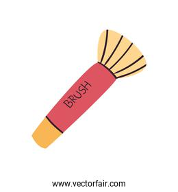 Make up and cosmetic brush vector design
