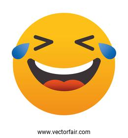 emoji Face with Tears of Joy, colorful design