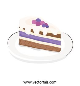 dish with sweet cake portion icon