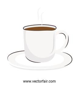coffee cup drink in dish icon